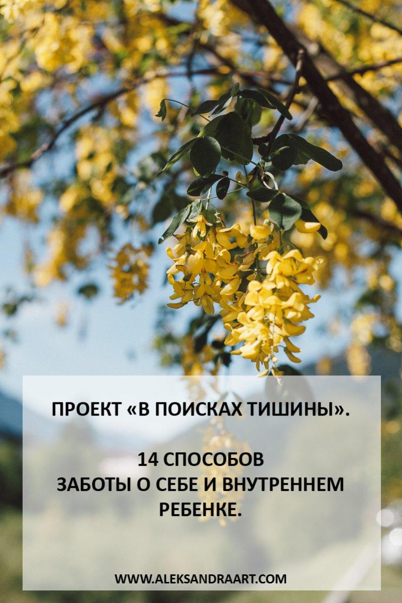 ПРОЕКТ «В ПОИСКАХ ТИШИНЫ». 14 СПОСОБОВ ЗАБОТЫ О СЕБЕ И ВНУТРЕННЕМ РЕБЕНКЕ | aleksandraart.com